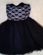 Czarna tiulowa sukienka z koronką wysyłka GRATIS...