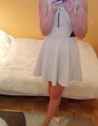 Beżowa sukienka z siateczką po boku WYSYŁKA GRATIS...