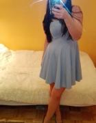 Niebieska gorsetowa sukienka Wysyłka GRATIS...
