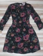 FOREVER21 klasyczna sukienka w kwiaty