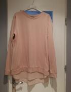 F&F bluza pudrowy róż styl zara