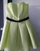 Sukienka rozkloszowana limonka...