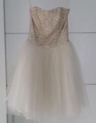 Suknia tiulowa princessa rozkloszowana