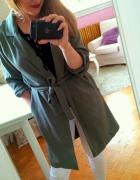 Zielona narzutka płaszcz khaki S 36