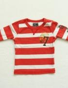 H&M bluzka w paski z długim rękawem 12m 18m 86