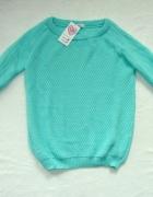 NOWY miętowy sweter cena zakupu 62 zł