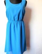 Asymetryczna niebieska sukienka r 4446