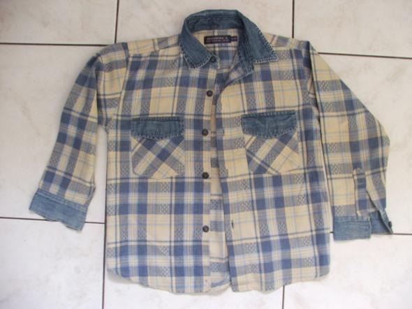 Koszulki, podkoszulki koszula chłopięca z elem jeansowymi 128