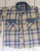 koszula chłopięca z elem jeansowymi 128...