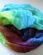 duży kolorowy szal xl