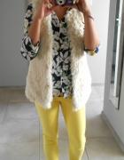 Zara nowe żółte spodnie cygaretki eleganckie...