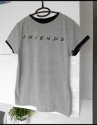 Friends Przyjaciele koszulka nadruk napis szara