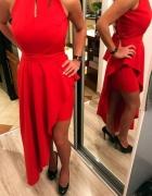 długa czerwona asymetryczna sukienka 343638......