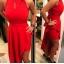 długa czerwona asymetryczna sukienka 343638...