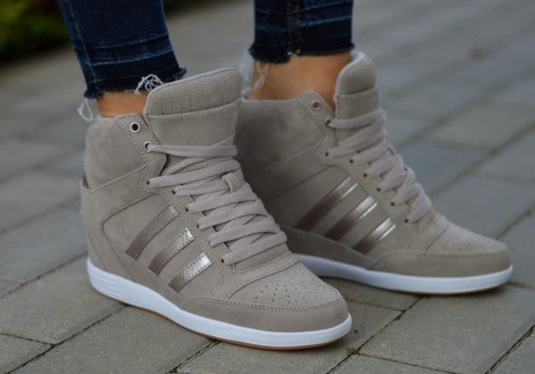 b2e8dac5 Adidas wedge koturny sneakersy skóra w Koturny - Szafa.pl