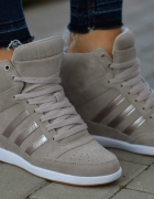 Adidas wedge koturny sneakersy skóra