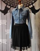 Czarna spódnica z miękkiego tiulu