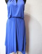 Asymetryczna kobaltowa sukienka r M...