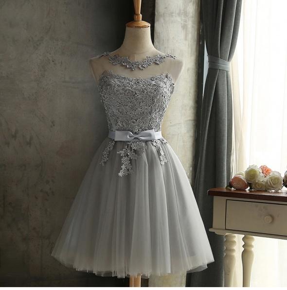 70fad4f95dcb Koronkowa tiulowa sukienka 38 M szara srebrna w Suknie i sukienki ...