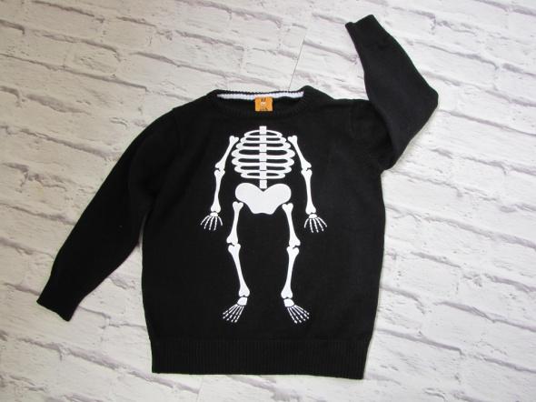 Bluzy Sweterek chłopięcy 92 kościotrup halloween