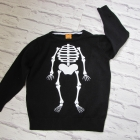 Sweterek chłopięcy 92 kościotrup halloween