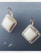 Kolczyki z perła i kryształkami vintage przyjęcie