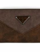 Brązowy klasyczny portfel Prezent elegancki