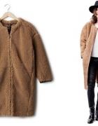 blogerskie futro misio oversize pudełkowy płaszcz