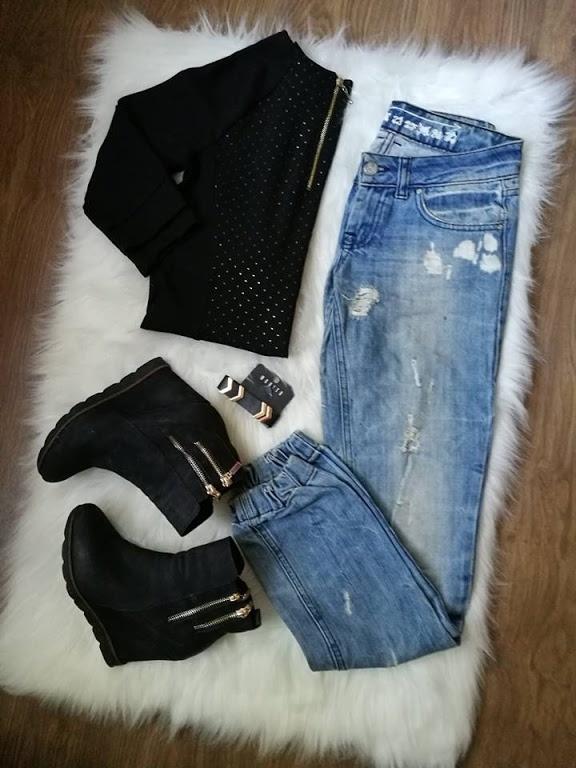 Codzienne jeans i czerń