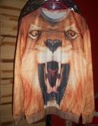 blogerska bluza z lwem 3D...