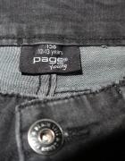 spodnie jeans rurki szary wytarte...