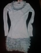 NOWA ciepła miękka sweterkowa sukienka futerko