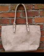 Azurowa shopper bag