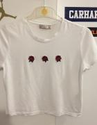 Bluzka crop top rose róże...