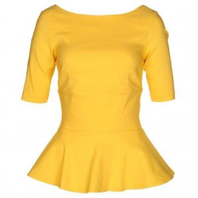 faa0299cb0 żółta bluzka z baskinką w Ubrania - Szafa.pl