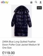 Płaszcz puchowy Zara...