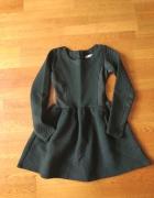 Czarna pikowana sukienka