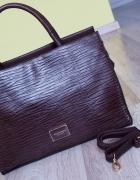 Monnari torebka kuferek aktówka brązowa elegancka...