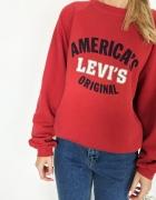 Bluza Levis czerwona Vintage XL oversize M