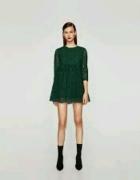zara zielona sukienka...