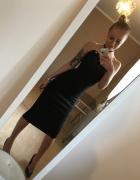 Sukienka MIDI S zamsz czarna