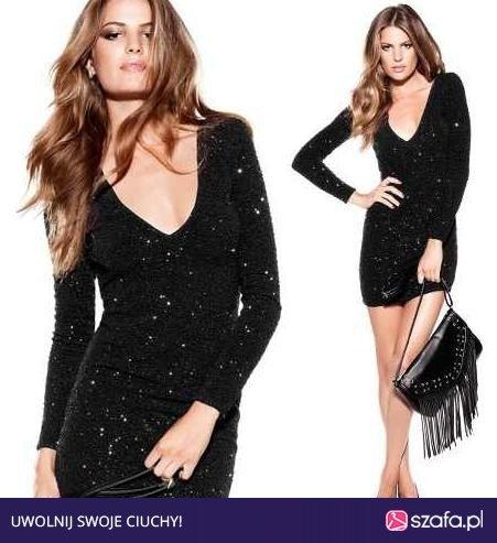 h&m sukienka brokatowa by night...