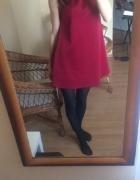 Bordowa krótka sukienka S M