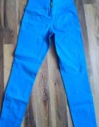 Chabrowe spodnie z wysokim stanem