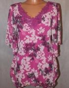 Różowa bluzeczka z haftem i kwiatkami M&S nowa 36