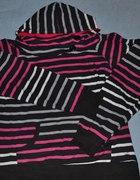 Sweter w paski z kapturem ROZMIAR XL