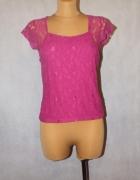 Różowa bluzka z koronki 38 10 M