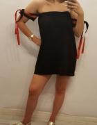 Sukienka z wiązaniami czarna