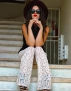 H&M koronkowe dzwony hippie boho lato
