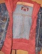 Kurtka jeansowa z bluzą
